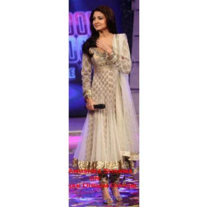 Bollywood Beauty Anushka Sharma in Net with Pure Viscos Inner Dress-0