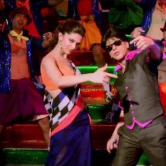 Bollywod Actress Deepika Padukone in Beautiful Dark Blue Chiffon Saree-0