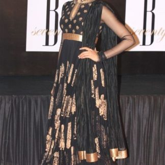 Bollywood Replica Deepika Padukone in Bold Black Dress-0