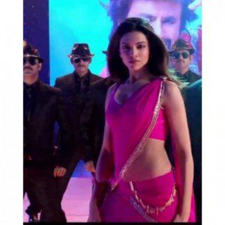 Bollywood Actress Deepika Padukone in Bright Pink Saree-0