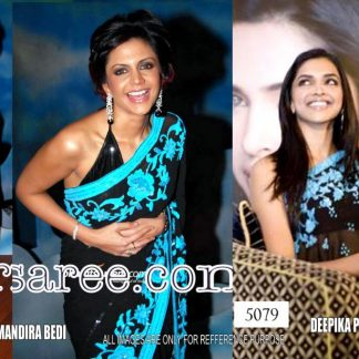 Beautiful Depika Padukone in Bold Black Bollywood Saree-0