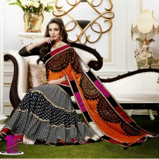 Beautiful Designer Printed Lehenga Saree-0