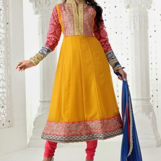 Beautiful Designer Yellow Georgette Suit-0