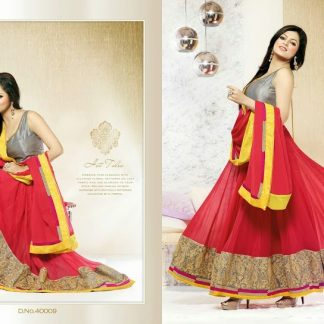 Actress Dhrasti Dhami Designer Red Embroidery Suit-0