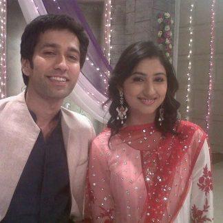 Disha Parmar Wearing a Georgette Salwar Kameez-0