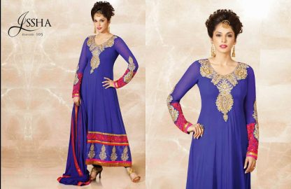 Stunning Actress Esha Kopikar in Bright Blue Salwar Kameez-0