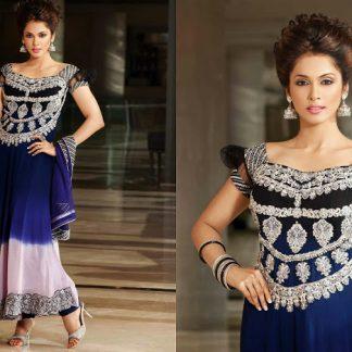 Bollywood Replica Esha Kopikar Designer Blue Long Anarkali Suit-0