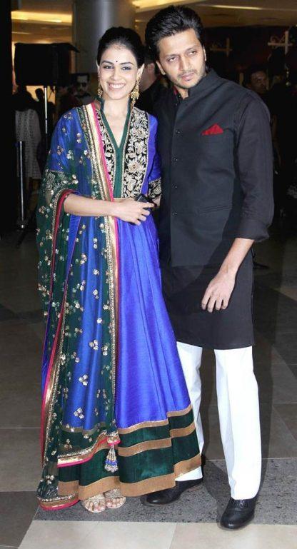 Bollywood Replica Genelia D'souza in Beautiful Blue Dress-0
