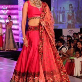 Bollywood Replica Genelia D'Souza Designer Pink Lehenga-0