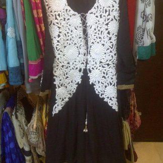 Georgette Salwar Suit in Bold Black Color-0