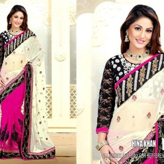 Beautiful Hina Khan in Marvellous Designer Saree-0