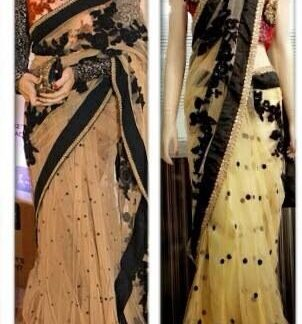 Bollywood Replica Jacqueline Fernandez in Beautiful Net Saree-0