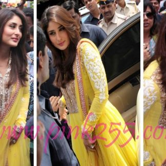 Beautiful Actress Kareena Kapoor in Bright Yellow Dress-0