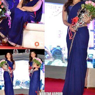 Bollywood Actress Kareena Kapoor in Stylish Blue Saree-0