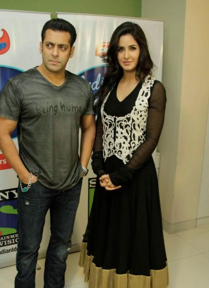Bollywood Beauty Katrina Kaif Wearing a Black Dress-0