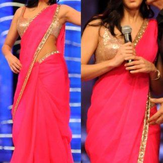 Beautiful Katrina Kaif in Fabulous Looking Pink Saree-0