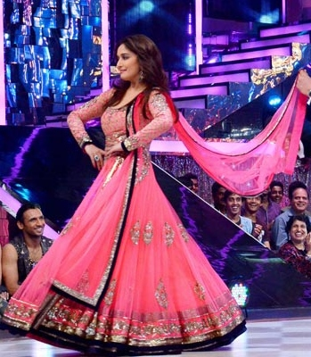 Stunning Actress Madhuri Dixit Wearing a Light Pink Dress-0