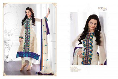 Monika Bedi in Faux Georgette Cream Suit-0