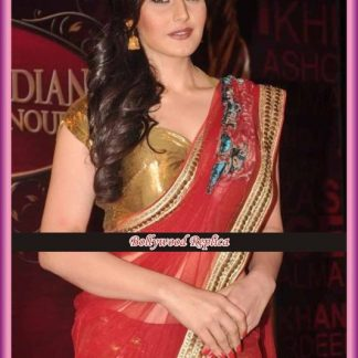 The Stunning Zarine in Goergeous Red Saree in Balaji Awards-0