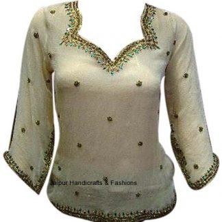 Buy Sparkling Party wear Wheat Georgette Kurti-0
